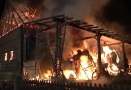 Großbrand in Twistetal