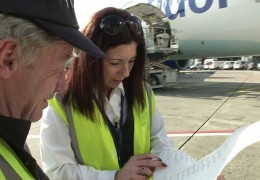 Ramp-Agent am Frankfurter Flughafen