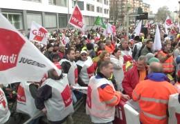 Warnstreik in Hessen und Rheinland-Pfalz