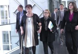 Bundesarbeitsministerin Andrea Nahles bei der Fraport