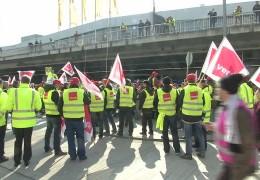 Warnstreik am Frankfurter Flughafen