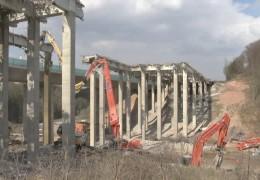 Helterbachtalbrücke bei Melsungen wird abgerissen