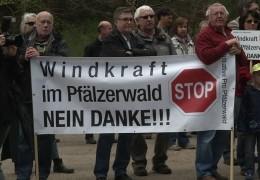 Protest gegen Windkraft