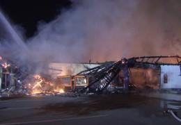 Supermarkt in Mainz-Kastel niedergebrannt