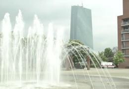 Bauarbeiten auf der Baustelle der Europäischen Zentralbank gehen voran