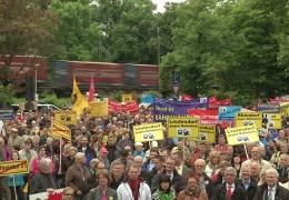 Demo gegen Bahnlärm im Mittelrheintal