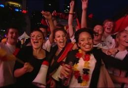 Public Viewing zur Fußballweltmeisterschaft