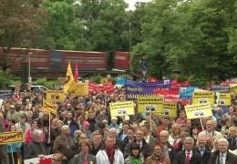 Bahnlärm-Demonstration in Lahnstein