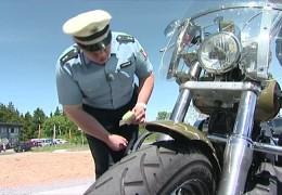 Motorradkontrollen an der Wasserkuppe