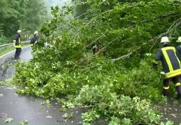 Unwetter zieht über Rheinland-Pfalz und Hessen