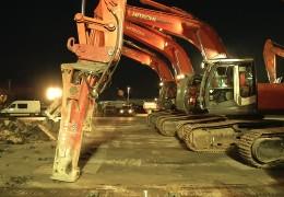 Sanierung der Rollbahn auf dem Frankfurter Flughafen