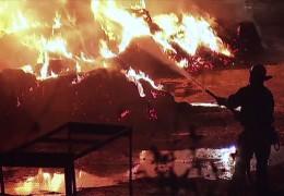 Pferdehof in Fulda brennt