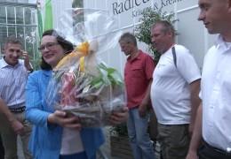 Bundesarbeitsministerin Andrea Nahles auf Sommertour