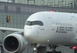 A350 landet in Frankfurt