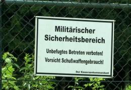 Terrordrohung gegen Fliegerhorst Büchel in Rheinland-Pfalz