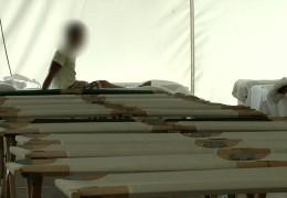 Flüchtlingslager in Gießen stellt Zelte auf