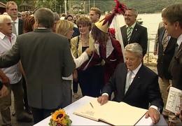 Bundespräsident Joachim Gauck in Rheinland-Pfalz