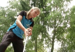 Deutsche Meisterin im Minigolf