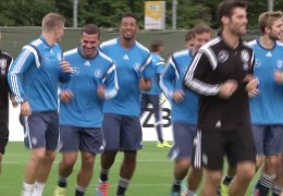 Trainingslager in Frankfurt