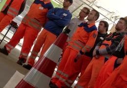 Trainingeinheit für Straßenwärter