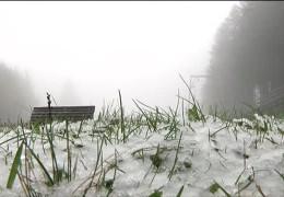 Der erste Schnee in der Rhön