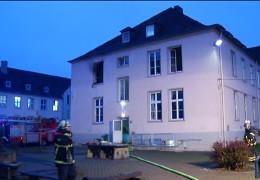 Feuer in Trierer Flüchtlingsunterkunft