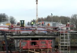Main-Brücke zwischen Offenbach und Frankfurt wird verschoben