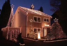 Weihnachtshaus als Lightshow