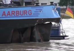 Schiffshavarie auf dem Rhein