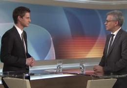 Der hessische Wirtschaftsminister Tarek Al-Wazir zu Gast im Studio