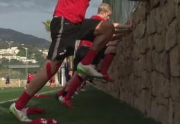 Die Fußballteams aus Hessen und Rheinland-Pfalz im Trainingslager