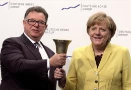 Kanzlerin Merkel besucht die Börse