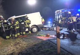 Schwerer Unfall auf der A5 bei Homburg