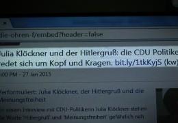 Streit um Klöckner Interview