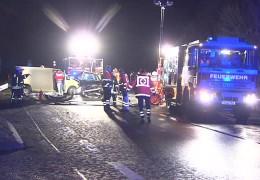 Schwerer Unfall auf der B8 bei Königstein