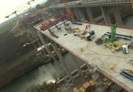 Die neue Lahntalbrücke an der A 3