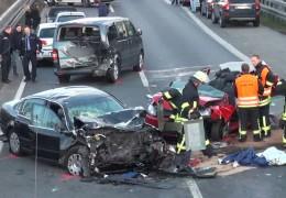Schwerer Unfall auf der A45 bei Gießen