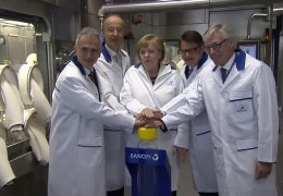 Angela Merkel trifft Forscher