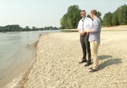 Gefährliche Strömung im Rhein
