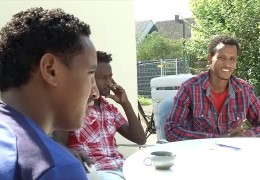 Erste Flüchtlinge in Limburgerhof