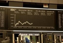 Talfahrt an der Frankfurter Börse