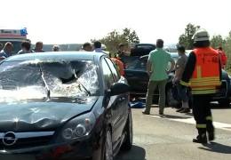 Unfallserie auf der A 45
