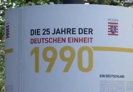 Ausstellung in Frankfurt: 25 Jahre Wiedervereinigung