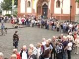 Lange Schlangen am Limburger Bischofssitz