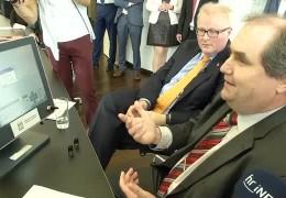 Finanzminister Schäfer auf Sommerreise