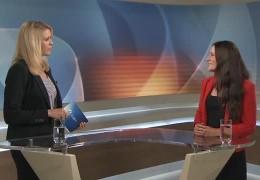 """Das """"17:30 SAT.1 LIVE"""" Politikinterview mit Janine Wissler"""