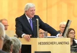 Bouffiers Regierungserklärung zu Flüchtlingen