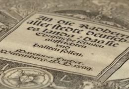 Luthers Flugschrift wird Weltdokumentenerbe