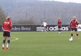 Frauenfußball-Nationalmannschaft trainiert in Frankfurt