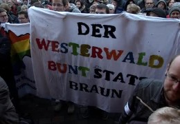 """Bunt statt braun"" – Demonstration in Bad Marienberg"